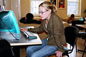 Girl at computer